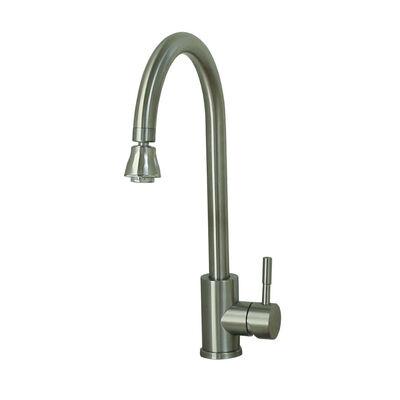 Empire Faucets Single-Lever Gooseneck Spout RV Kitchen Faucet, Brushed Nickel