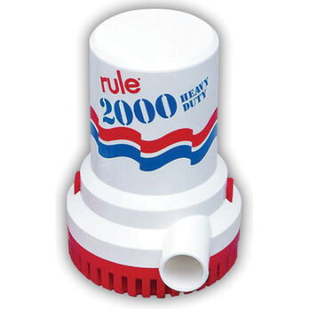 Rule Submersible Bilge Pump 10 - 2000 GPH