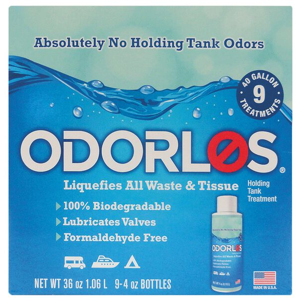 Odorlos 9-pack, 4oz. Bottles