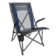 High Back Bungee Camp Chair, Blue/Gray