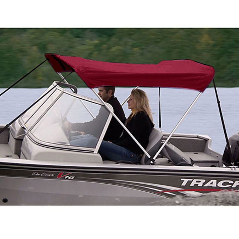"""Shademate Polyester 2-Bow Bimini Top, 5'6""""L x 42""""H, 61""""-66"""" Wide image number 12"""