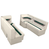 "Designer Pontoon Furniture - 61"" Front Seat Package, Platinum/Evergreen/Mocha"