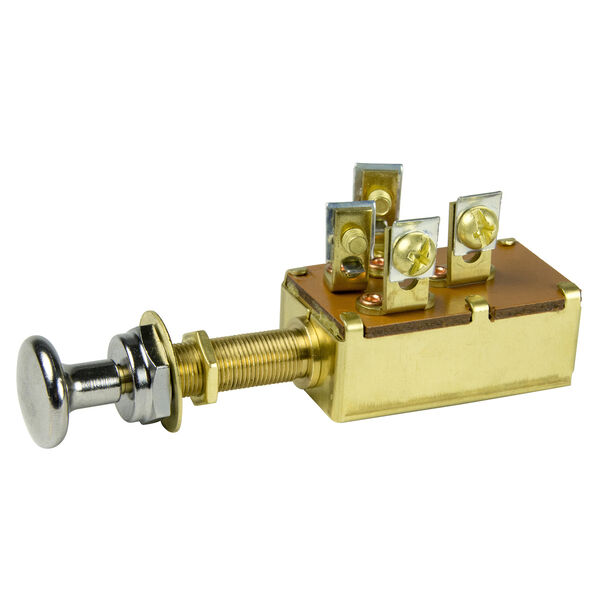 BEP SPDT Push-Pull Switch, 3 Position, Off/On 1 & 2/On 1 & 3