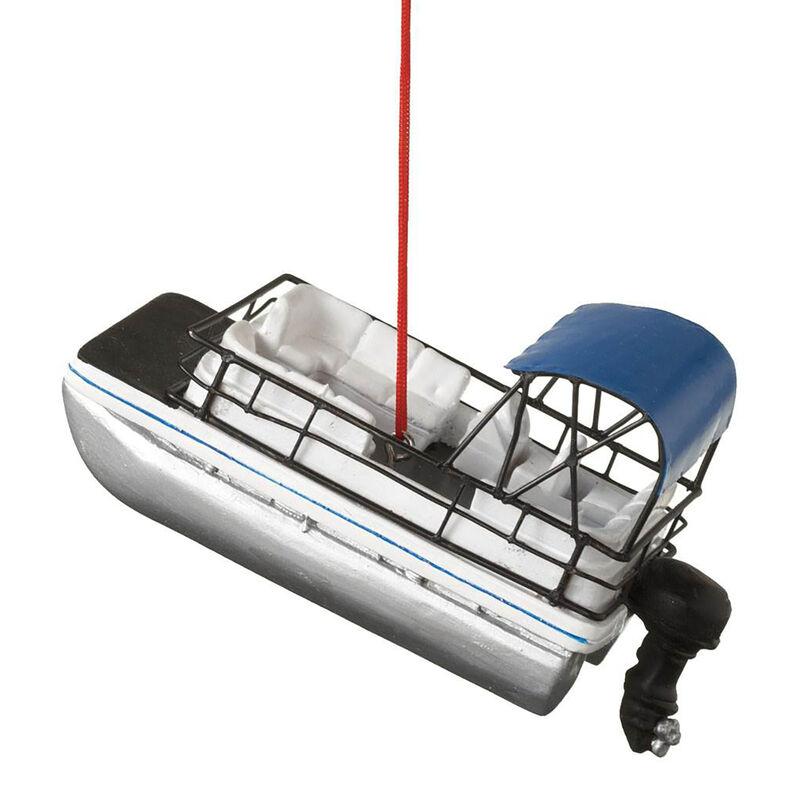 Midwest Pontoon Boat Ornament image number 1
