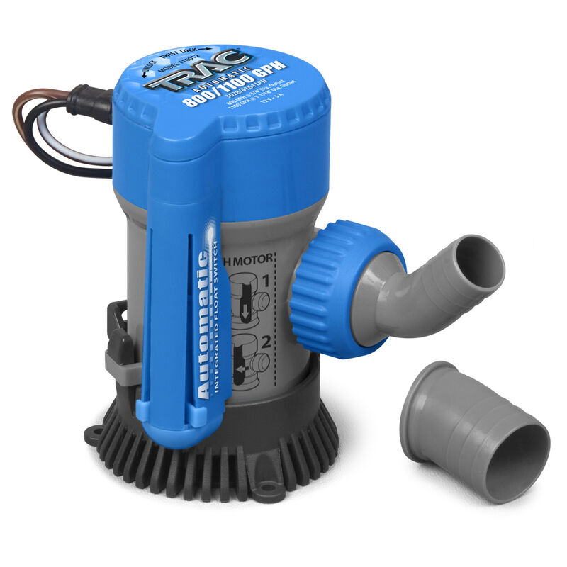 TRAC Submersible Automatic 800/1100 GPH Bilge Pump image number 1