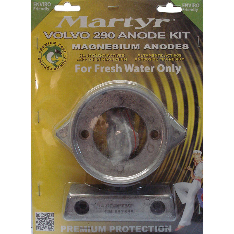 Martyr Volvo Penta Anode Kit for 290 HP Engines - Magnesium image number 1