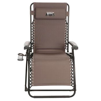 Oversize Gray Recliner - Keep Calm and Camp