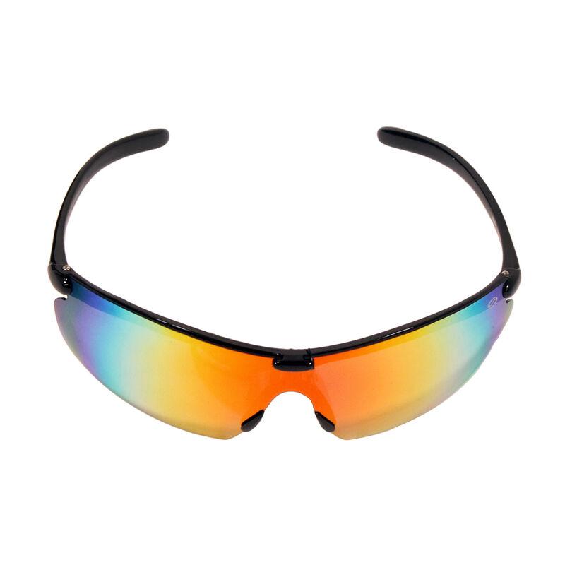 Strike King SK Plus Waffle Sunglasses - Shiny Black Frame, Red Mirror Lens image number 1