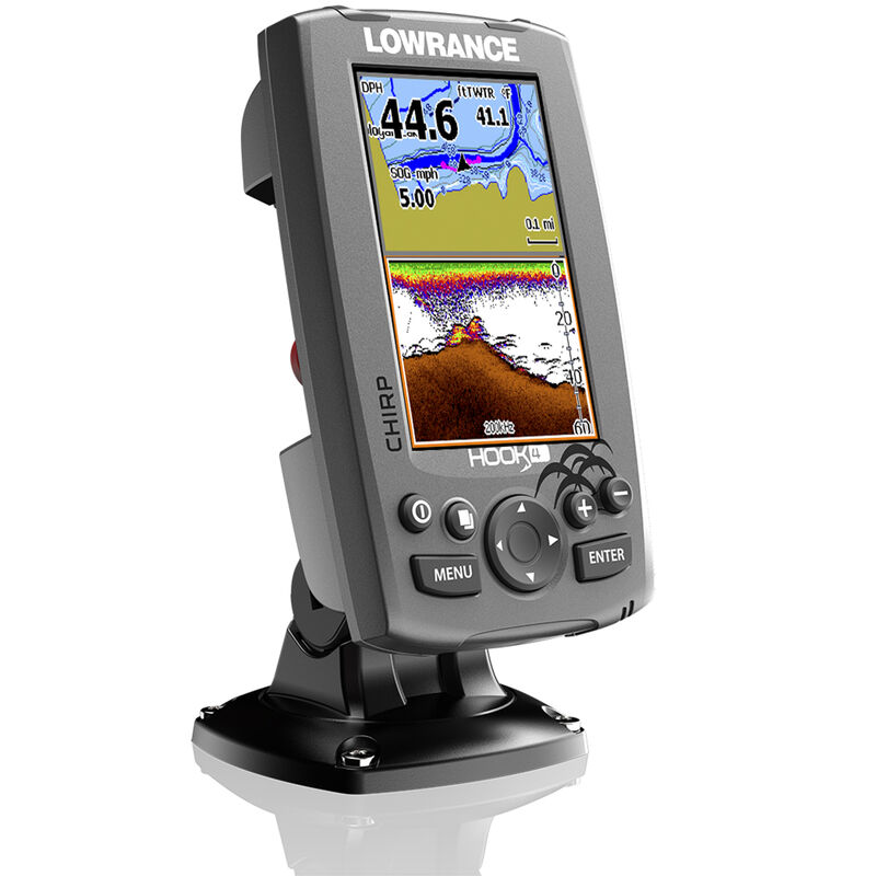 Lowrance HOOK-4 CHIRP DSI Fishfinder Chartplotter With Lake Insight Cartography image number 2