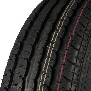 Trailer King II ST205/75 R 14 Radial Trailer Tire, 5-Lug Chrome Modular Rim
