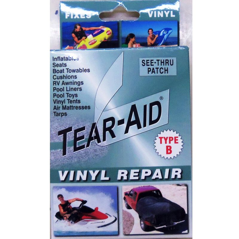 "Tear-Aid Vinyl Repair Kit, Type B, 3"" x 12"" patch image number 1"