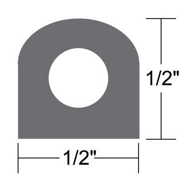 """Taco Weather Seal, 10'L x 1/2""""W x 1/2""""H"""