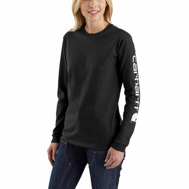 Carhartt Women's WK231 Workwear Sleeve Logo Long-Sleeve Tee