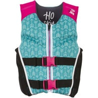 HO Youth Pursuit Neoprene Life Jacket, turquoise/pink