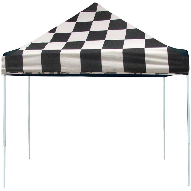 10X10 Pro Series Pop-Up Canopy - Checkered Flag image number 1