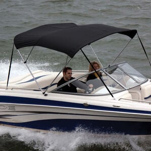 """Bimini Top Polyester Fabric and Boot Only, 3-Bow 6'L, 46""""/54""""H, 91""""-96""""W"""