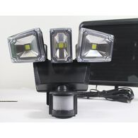 Nature Power Solar Motion-Activated 1200 Lumens Triple Head Security Light