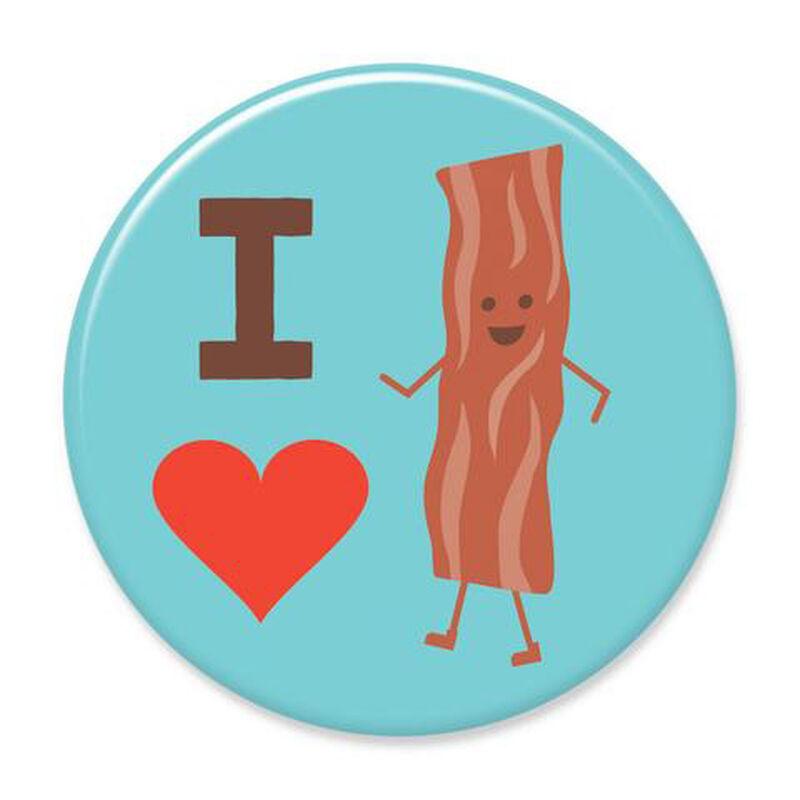 I Heart Bacon Big Magnet image number 1