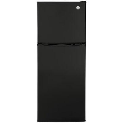 GE 9.8 Cu. Ft. 12V DC Power Top-Freezer Refrigerator, Black