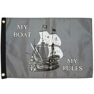 "My Boat My Rules, 12"" x 18"""