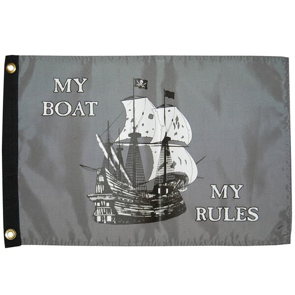 """My Boat My Rules, 12"""" x 18"""""""