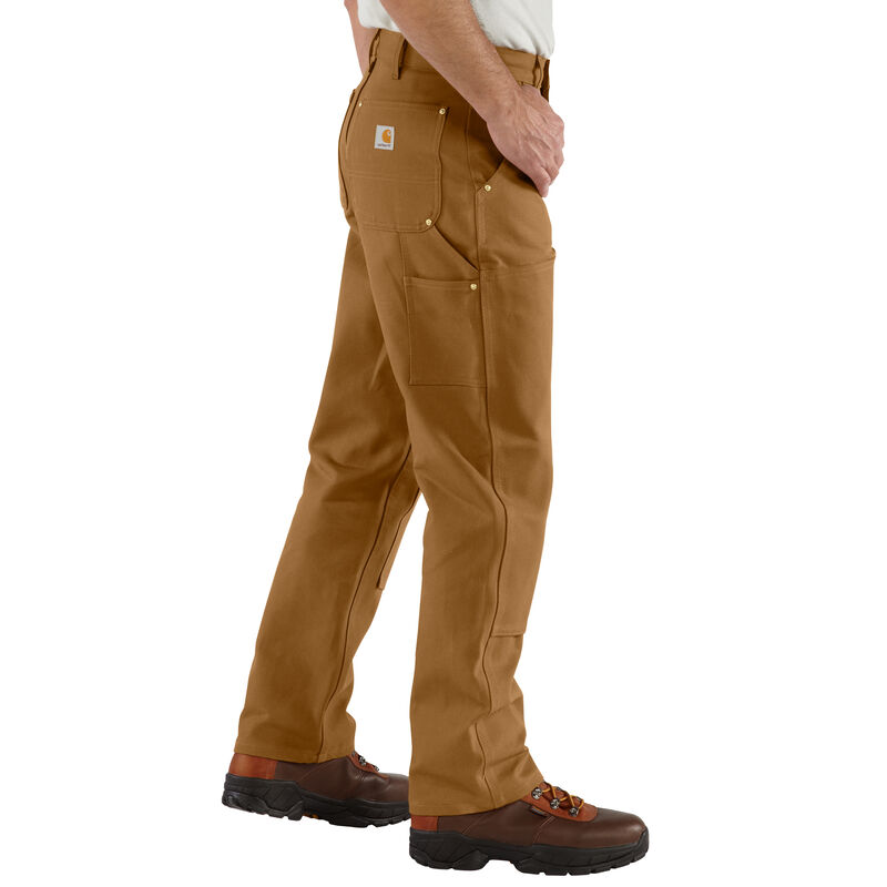 Carhartt Men's Firm Duck Double-Front Work Dungaree Pant image number 5