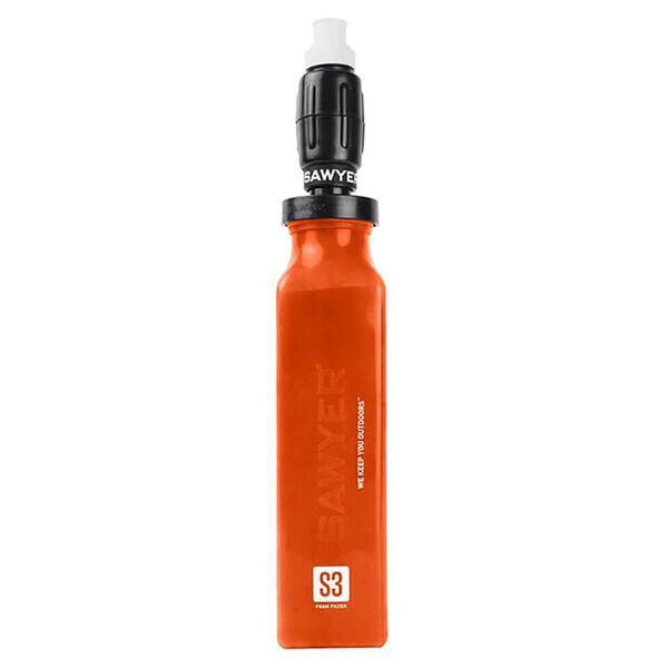 Sawyer Foam Water Filter and 20-oz. Orange Bottle