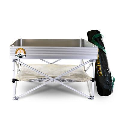 Pop-Up Fire Pit + Heat Shield Bundle
