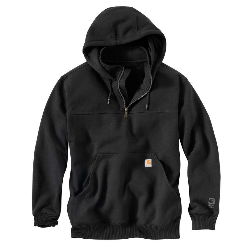 Carhartt Men's Rain Defender Paxton Heavyweight Hooded Zip Mock Sweatshirt image number 5