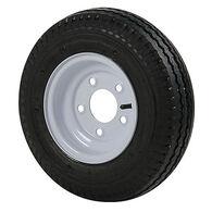 Kenda Loadstar 5.70 x 8 Bias Trailer Tire w/5-Lug Standard White Rim