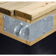 "Commercial-Grade 1/4"" Floating Dock Hardware - Female Outside Corner"
