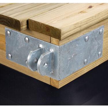 """Commercial-Grade 1/4"""" Floating Dock Hardware - Female Outside Corner"""