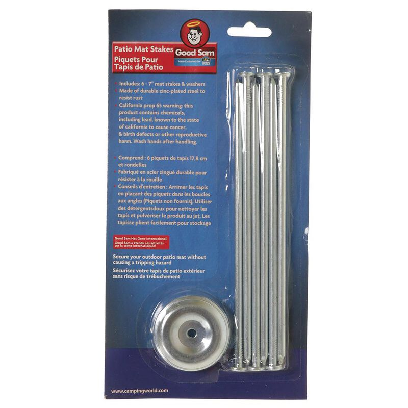 Good Sam Patio Mat Stakes, 6-Pack image number 3