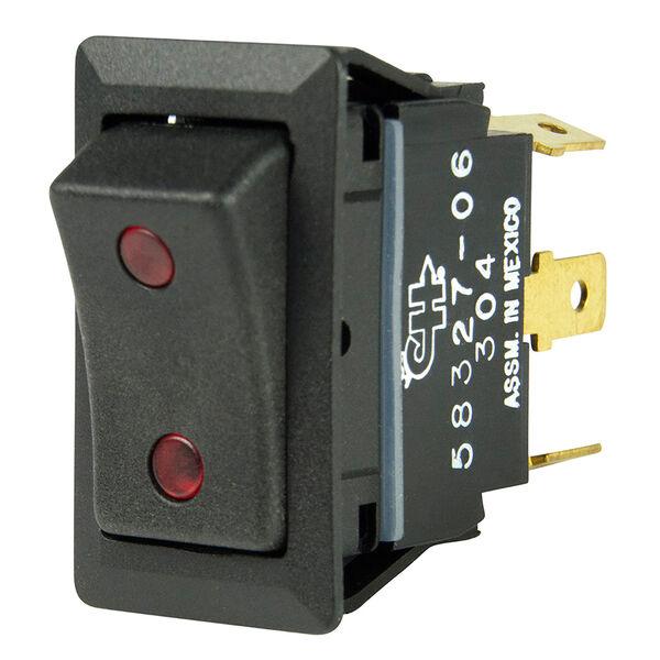 BEP SPDT Rocker Switch, On/Off/On, 2 LEDs