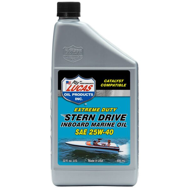 Lucas Oil SAE 25W-40 Sterndrive Inboard Engine Oil, Quart