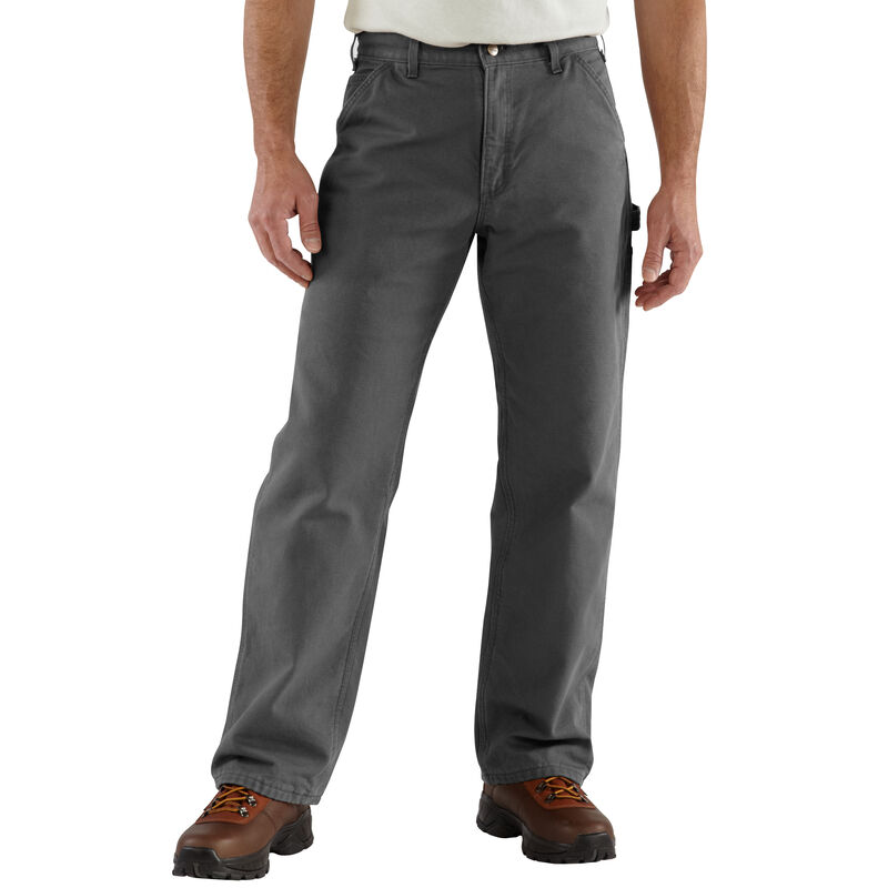 Carhartt Men's Washed Duck Flannel-Lined Dungaree Pant image number 3