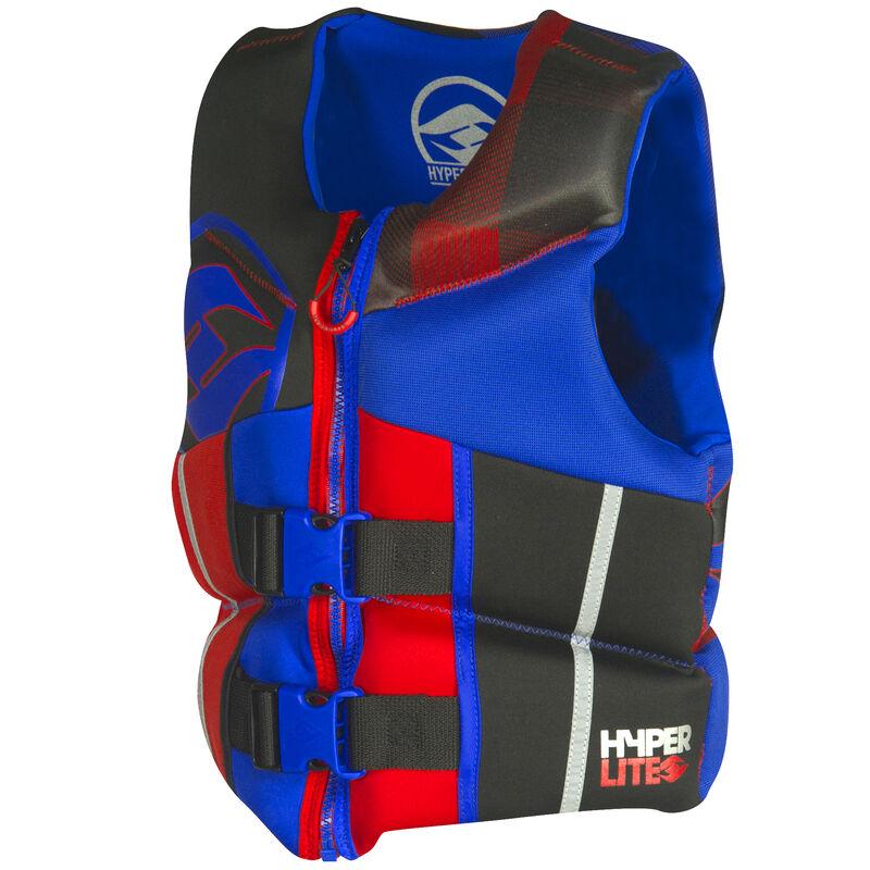 Hyperlite Pro V Youth Life Jacket, blue/red image number 3