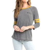 RVCA Women's Cactus Road Three-Quarter-Sleeve Tee