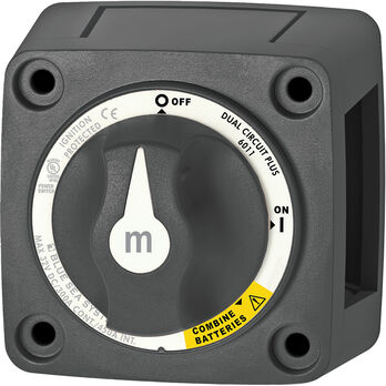 Blue Sea Systems m-Series Mini Dual Circuit Plus Battery Switch