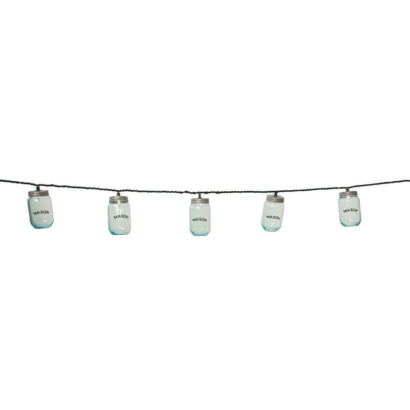 """10 Mini Mason Jar Lights, 7'8"""" image number 2"""