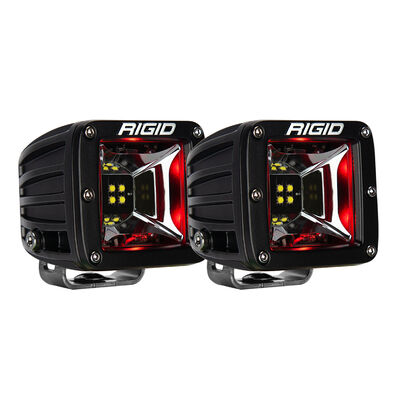 Radiance Scene Lights - Surface Mount Pair - Black with Red LED Backlight