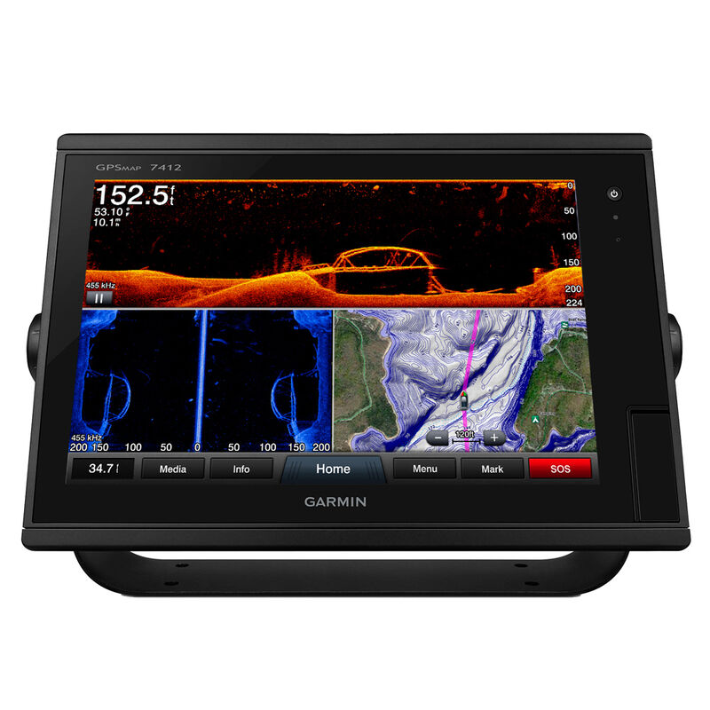 """Garmin GPSMAP 7412 12"""" Touchscreen Chartplotter With J1939 Port image number 1"""