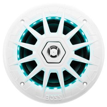 "Boss Audio MRGB65 6.5"" Two-Way Marine Speakers With LED Lighting, Pair"
