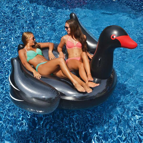 Swimline Giant Black Swan Ride-On Float