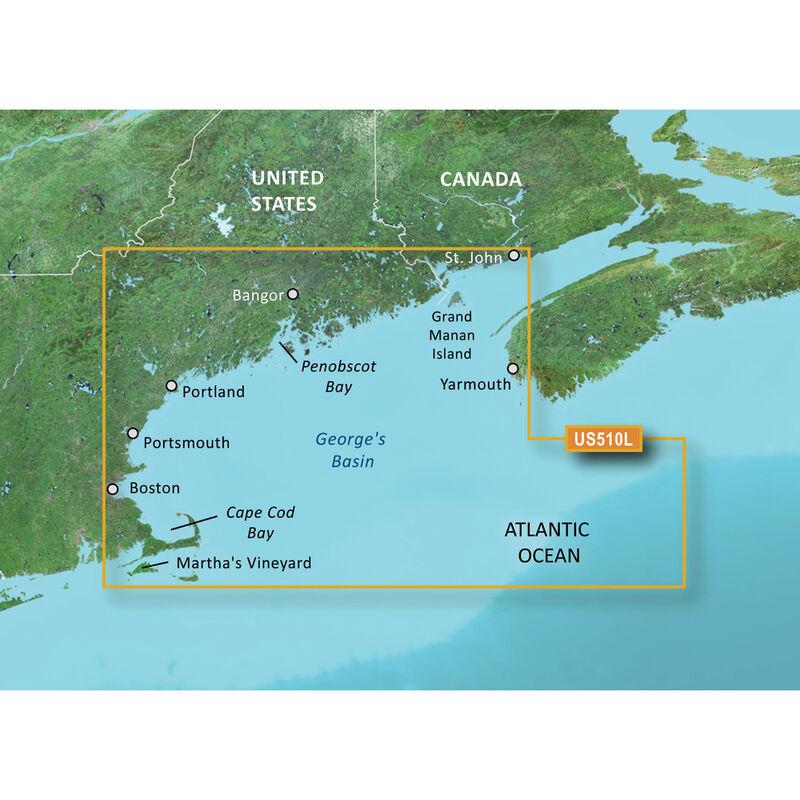 Garmin BlueChart g2 Vision HD Cartography, St. John - Cape Cod image number 1