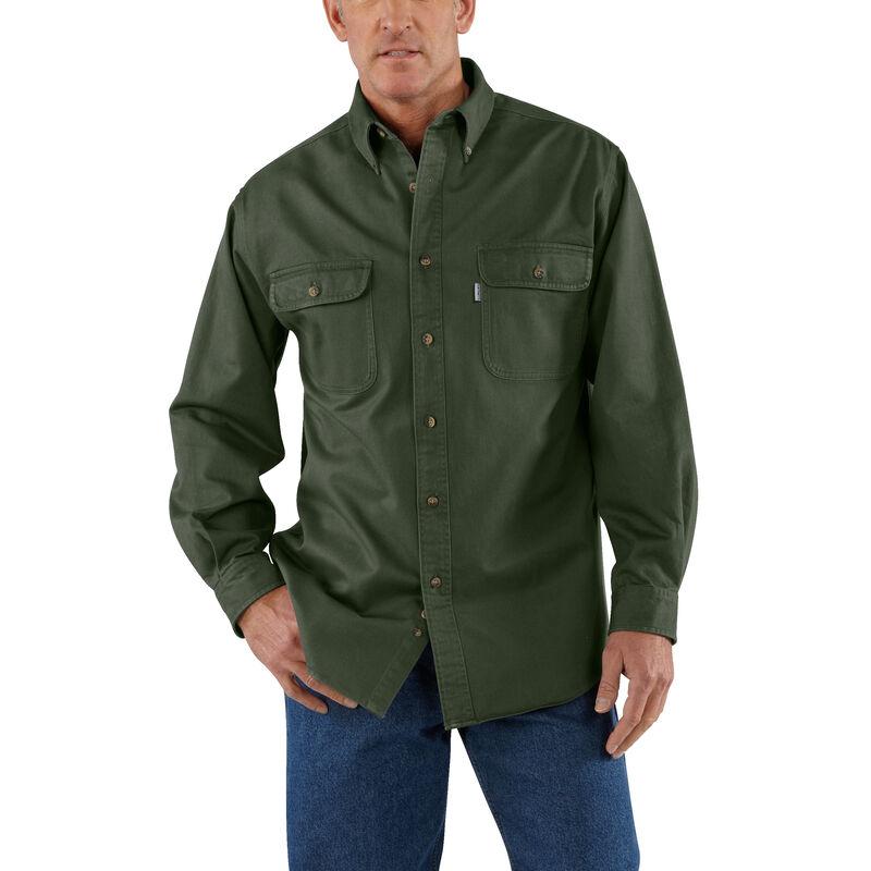 Carhartt Men's Sandstone Twill Long-Sleeve Shirt image number 5