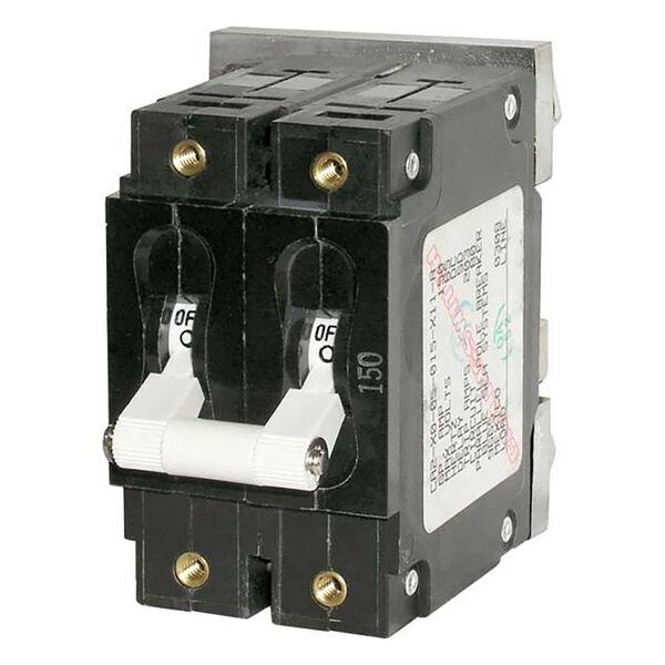 Blue Sea DC Circuit Breaker C-Series Toggle Switch, Double Pole, 150A