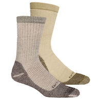 Farm To Feet Men's Boulder Midweight Hiking Socks – Sycamore/Lead Gray, 2-Pack