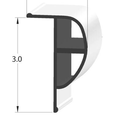 Taylor Made Dock Pro Standard P-Shape Dock Profile, 10'