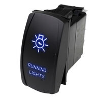 Race Sport LED Rocker Switch with Blue LED Radiance – Running Lights